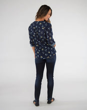 Load image into Gallery viewer, Dylan Gauze Shirt: Navy Belle