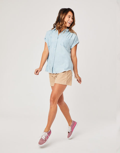 Huck SS Shirt : Light Chambray