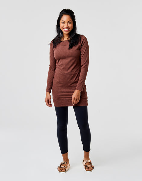Talora Dress: Brunette Heather