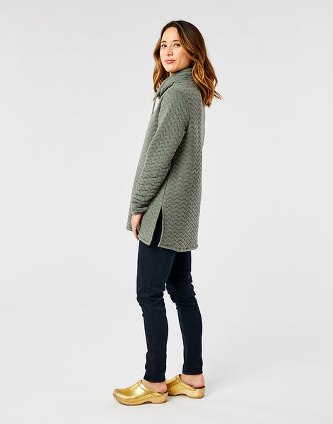 Milford Tunic: Moss Heather