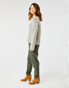 Whitcomb Sweater: Birch Moss Stripe