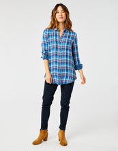Load image into Gallery viewer, Lydia Button Down: River Plaid/River Check