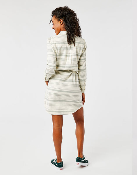 Aida Dress: Moss Stripe