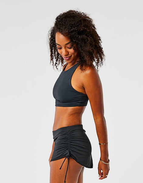 Hoku Swim Skirt : Black