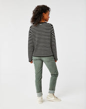 Load image into Gallery viewer, Whitcomb Sweater: Black Birch Stripe
