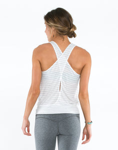 Kansas Tank: White Water Stripe