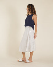 Load image into Gallery viewer, Cascade Skirt: Cloud Pinstripe