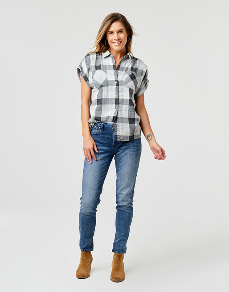 Boone SS Shirt: Moon Plaid