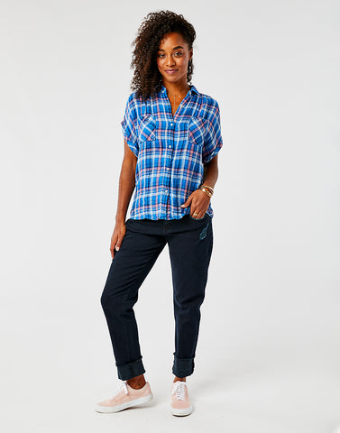 Boone SS Shirt: River Plaid