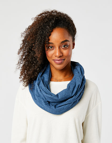 Talora Infinity Scarf: River Heather