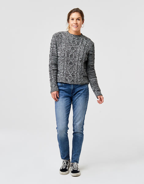 Walsh Sweater: Marled Limestone