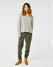 Load image into Gallery viewer, Whitcomb Sweater: Birch Moss Stripe