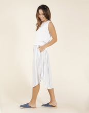 Load image into Gallery viewer, Peyton Skirt: Cloud Pencil Stripe