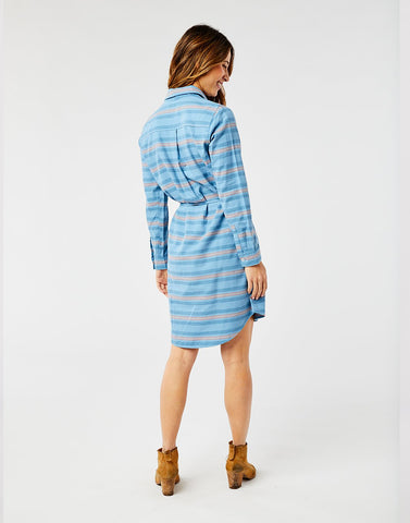 Aida Dress: Lake Stripe
