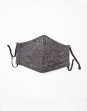Load image into Gallery viewer, Herringbone Knit Face Mask: Black Topo