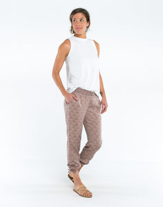 Tori Pant: Fawn Triangles-FINAL SALE