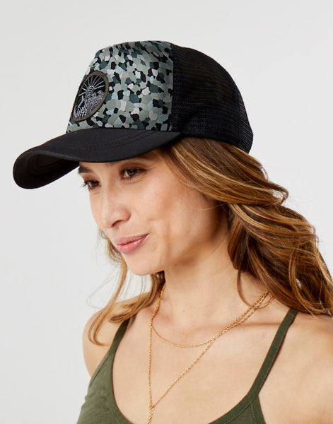 Beach Trucker Hat: Camo