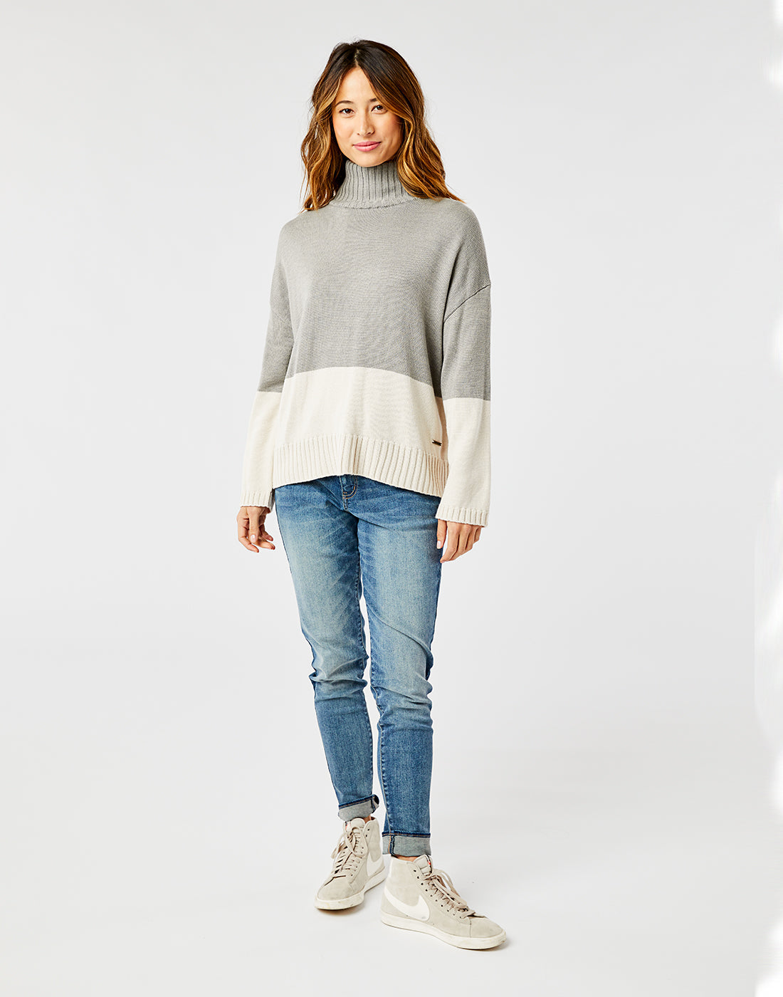 Montrose Turtleneck: Limestone Heather