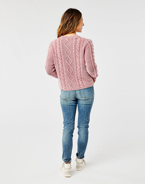 Walsh Sweater: Frosted Red Rock
