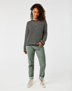 Whitcomb Sweater: Black Birch Stripe