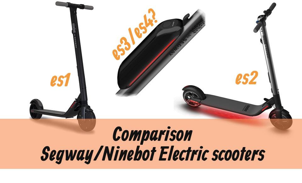 NINEBOT KICKSCOOTER  ES1 VS ES2 COMPARISON