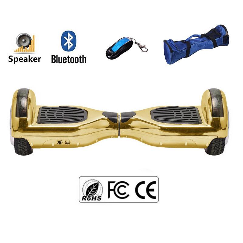 Gold Classic Bluetooth Enabled 6.5 Inch Segway Hoverboard for Sale in UK - 30% Xmas Offer - Segwayfun