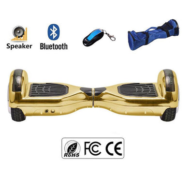 Gold Classic Bluetooth Enabled 6.5 Inch Segway Hoverboard for Sale in UK - SWEGWAYFUN