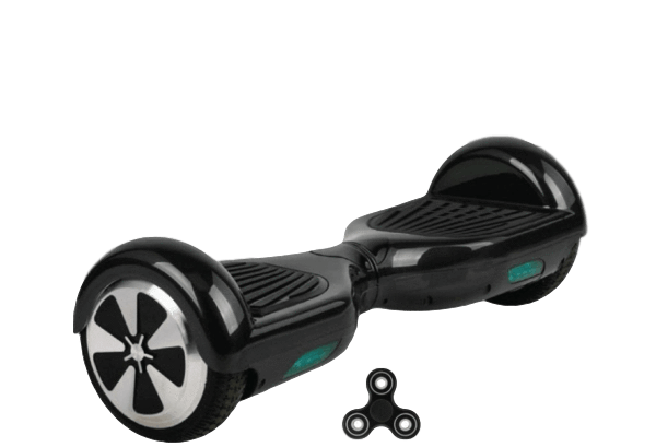 Black 6.5 Classic Hoverboard UK With Carry Bag & Fidget Spinner - Segwayfun