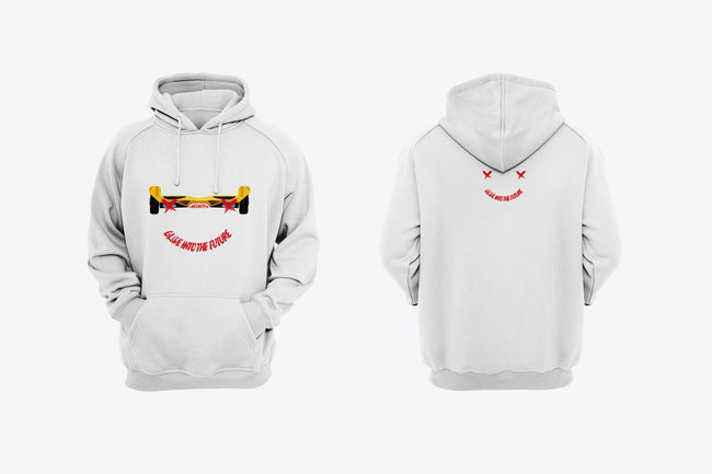 SWEGWAYFUN LIMITED EDITION SMILEY HOODIE - WHITE - Segwayfun