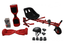Load image into Gallery viewer, UL Certified Red Chrome Segway Buy HoverKart-X Bundle, hoverboard kart - Segwayfun