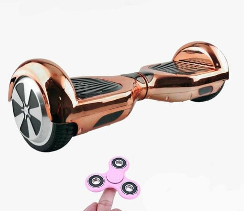 ROSE GOLD LIMITED CHROME EDITION 6.5 SWEGWAY HOVERBOARD + FIDGET SPINNER