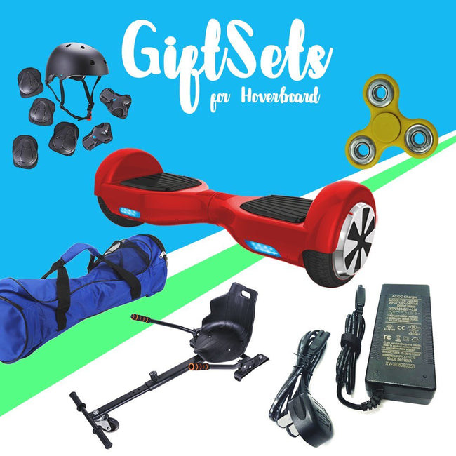 6.5  Red classic Hoverboard + Hoverkart Bundle - Segwayfun