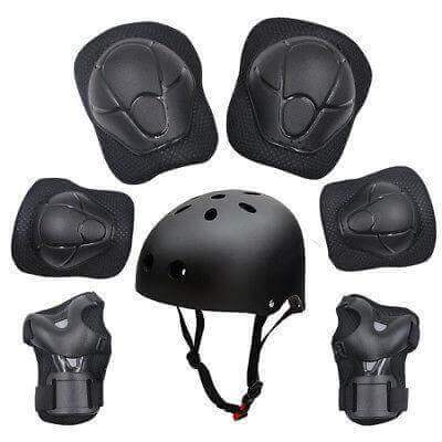 7pcs  Kids Protective Swegway Gear Safety Helmet Children Knee Elbow Pad Set - SWEGWAYFUN