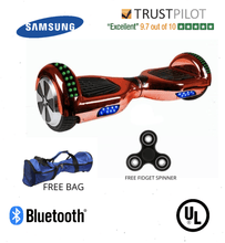 Load image into Gallery viewer, 2019 APP ENABLED Stylish Chrome HOVER BOARD 6.5 Inch Red Samsung Hoverboard - 30% sale Offer - Segwayfun