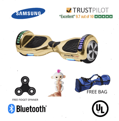 2020 APP ENABLED Chrome Gold Classic Hoverboard 6.5 Inch for Sale with Samsung Battery - SWEGWAYFUN