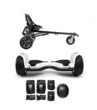 Load image into Gallery viewer, 2019 White Warrior - G2 Hoverboard Off Road Hoverkart Bundle - Segwayfun