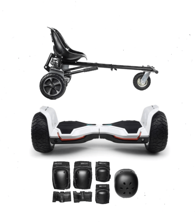 2020 White Warrior - G2 Hoverboard Off Road Hoverkart Bundle - SWEGWAYFUN