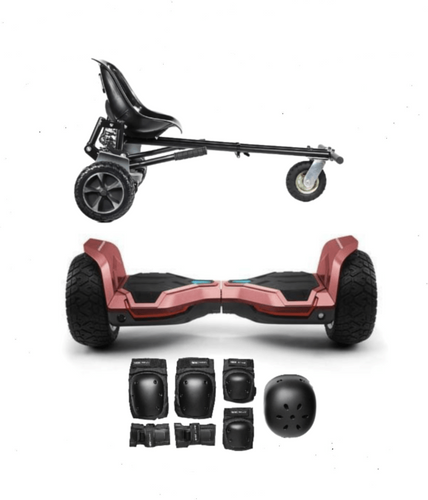 Updated All Terrain Red Warrior Hoverboard Off Road  Hoverkart Bundle Deals - Segwayfun