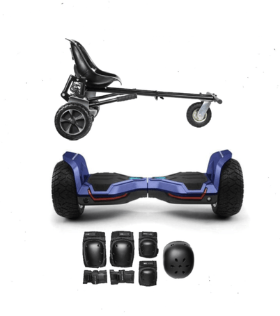 2019 Updated All Terrain Blue Warrior Hoverboard Off Road Hoverkart Bundle Deals - 30% Xmas sale Offer - Segwayfun