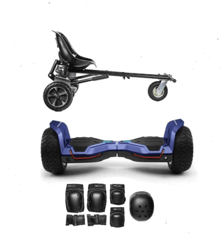 2019 Updated All Terrain Blue Warrior - G2 Hoverboard Off Road Hoverkart Bundle Deals - 30% sale Offer