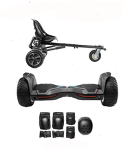 Load image into Gallery viewer, 2019 All Terrain Black Warrior - G2 Hoverboard Hoverkart Bundle - Segwayfun