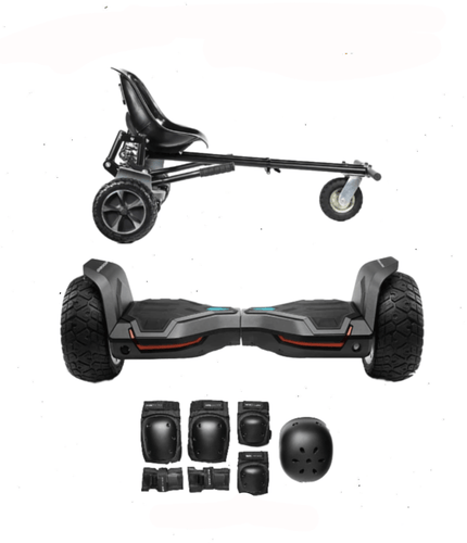 Updated All Terrain Black Warrior Hoverboard Off Road  Hoverkart Bundle Deals - Segwayfun