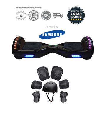 2020 Black App Enabled Hoverboard with Samsung Battery - Segwayfun