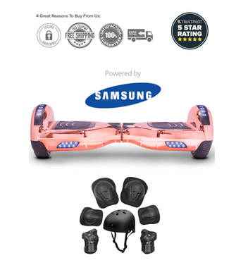 2019 APP ENABLED Chrome Rose Gold Limited Edition Hoverboard - Segwayfun