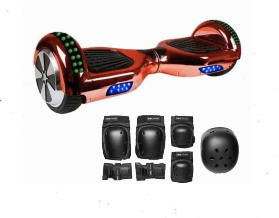 2018 APP ENABLED Stylish Chrome HOVER BOARD 6.5 Inch Red Samsung Hoverboard - 30% Xmas sale Offer - Segwayfun