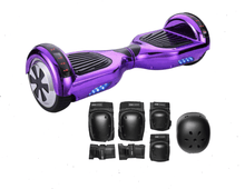 Load image into Gallery viewer, 2019 APP ENABLED Purple Chrome Hoverboard - Bluetooth Speaker - Segwayfun