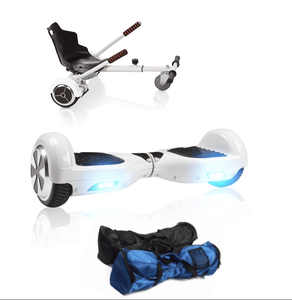 6.5 White classic Swegway Hoverboard + Hoverkart Bundle Deal - Segwayfun