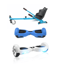 Load image into Gallery viewer, 6.5 White classic Swegway Hoverboard + Blue Hoverkart Bundle Deal + Blue Protective case - Segwayfun