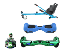 Load image into Gallery viewer, 2019 SUPER MARIO LUIGI -  6.5 Green classic Swegway Hoverboard + Blue Hoverkart Bundle Deal + Blue Protective case - Segwayfun