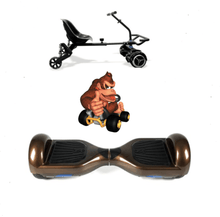 Load image into Gallery viewer, 2019 SUPER MARIO DONKEY KONG  -  6.5 Brown classic Swegway Hoverboard + Black  Hoverkart Bundle Deal - Segwayfun
